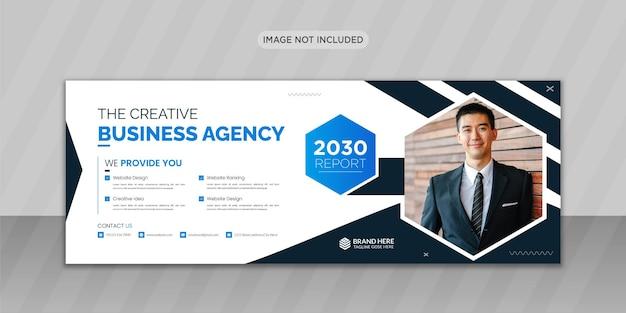 Agenzia di affari creativa progettazione di foto di copertina di facebook o design di banner web