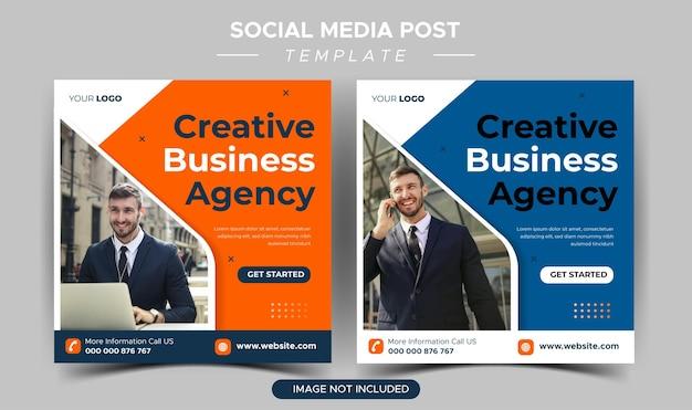 Modello di post instagram per agenzia di affari creativi
