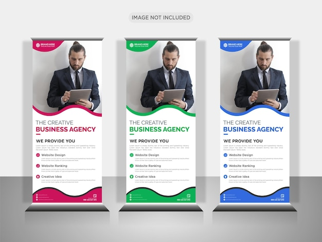 Agenzia commerciale creativa roll up design banner o pull up banner design