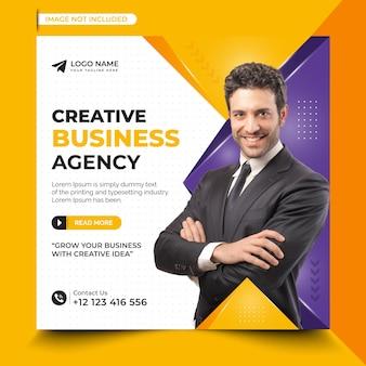 Modello di post sui social media dell'agenzia di affari creativa