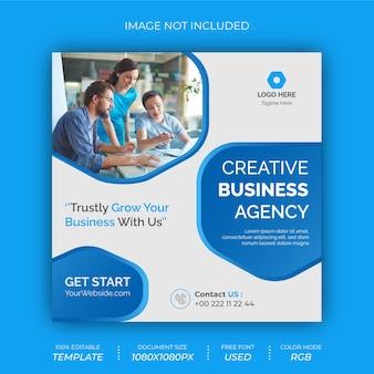Agenzia di affari creativi social post banner design