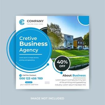 Banner aziendale creativo marketing digitale post sui social media