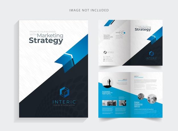 Brochure pieghevole aziendale creativa