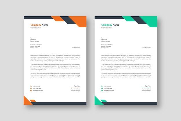 Carta intestata aziendale creativa