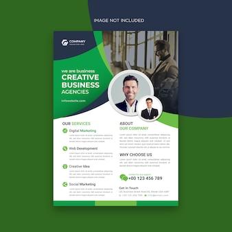Modello di volantino business creativo Vettore Premium