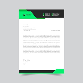 Modello di progettazione di carta intestata aziendale creativo vettore premium