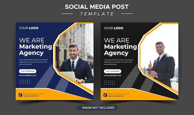 Modello di post instagram per agenzia di marketing aziendale creativo