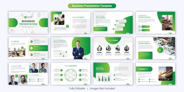 Set di modelli di diapositive per presentazioni powerpoint aziendali creative