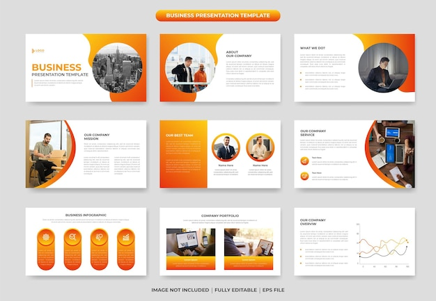Progettazione del modello di diapositiva di presentazione di powerpoint di business creativo