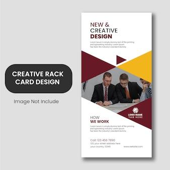 Disegno del modello di carta business rack creativo