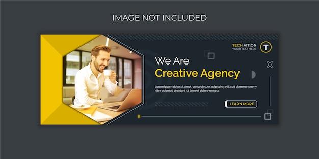 Modello di banner di social media aziendale creativo con copertina di facebook