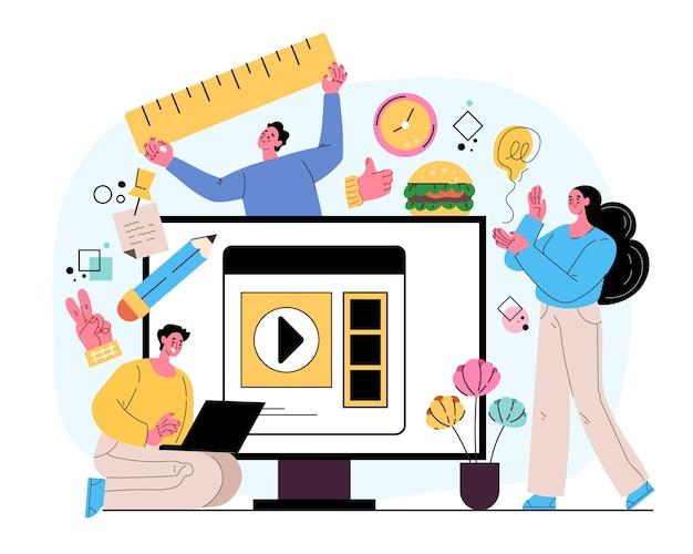 Personaggi della squadra di affari creativi persone uomo donna