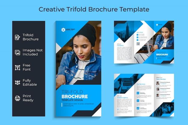 Progettazione ripiegabile del modello dell'opuscolo di affari creativi