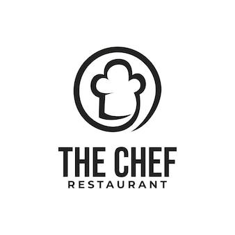 Design del logo del ristorante con logo chef creativo