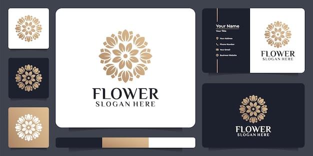 Logo del fiore di bellezza del cerchio creativo