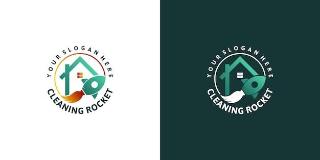Logo del servizio di pulizia creativo, per il logo di riferimento