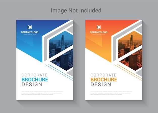 Modello di progettazione di copertina del libro brochure colorato creativo