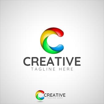 Creativo - logo colorato lettera c.