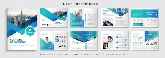 Progettazione del modello di brochure aziendale creativo o progettazione del layout del modello di brochure del profilo aziendale