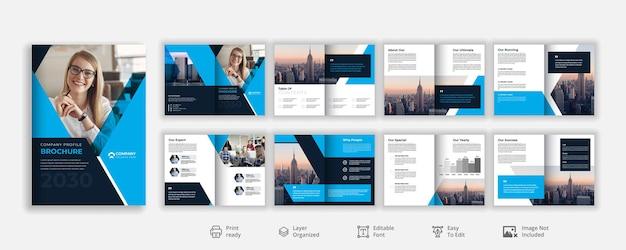 Progettazione di brochure aziendali con profilo aziendale creativo per uso professionale