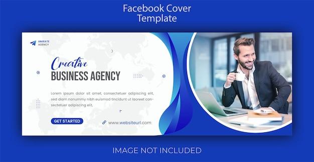 Concept creativo marketing digitale copertina facebook e modello banner web