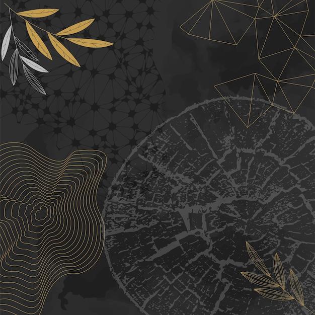 Layout di volantino concept creativo con anelli di crescita dell'albero struttura in legno di crescita dell'albero illustrazione vettoriale