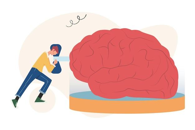 Idea di concetto creativo chiave per il successo, ricerca di nuovi pensieri creativi