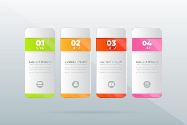 Concept creativo per la visualizzazione dei dati aziendali infografica