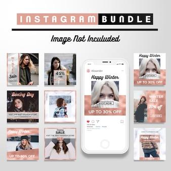 Modello di post di social media discount creative discount