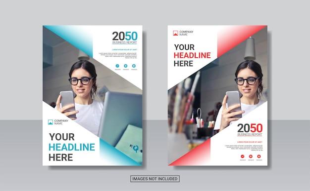 Modello di progettazione di copertina del libro aziendale creativo