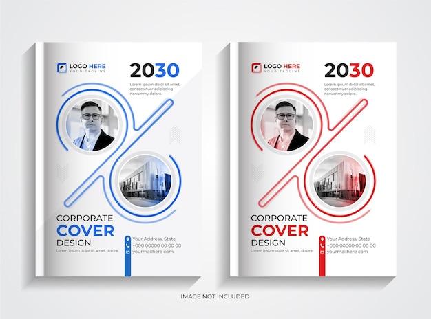 Modello di copertina del libro aziendale aziendale creativo