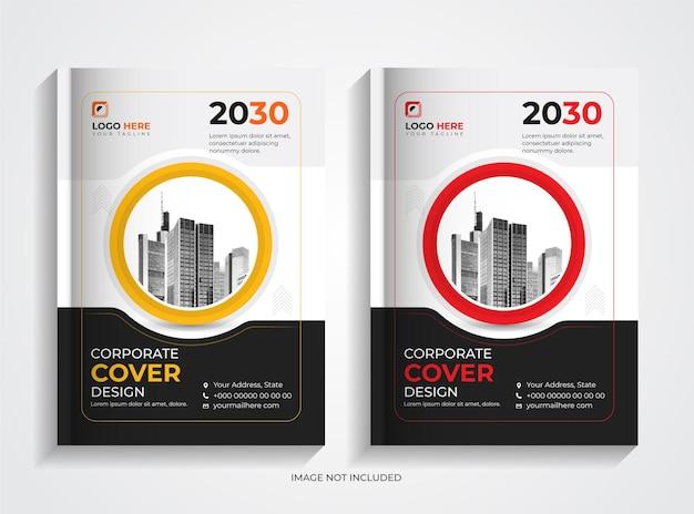 Set di modelli per copertine di libri aziendali aziendali creativi