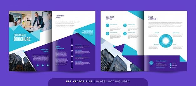 Modello dell'opuscolo di affari corporativi creativi. modello di volantino aziendale.