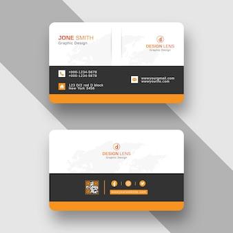 Modello di progettazione di biglietti da visita aziendali creativi