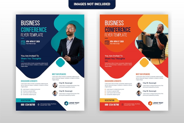 Progettazione creativa del modello dell'opuscolo del volantino di conferenza aziendale e di affari