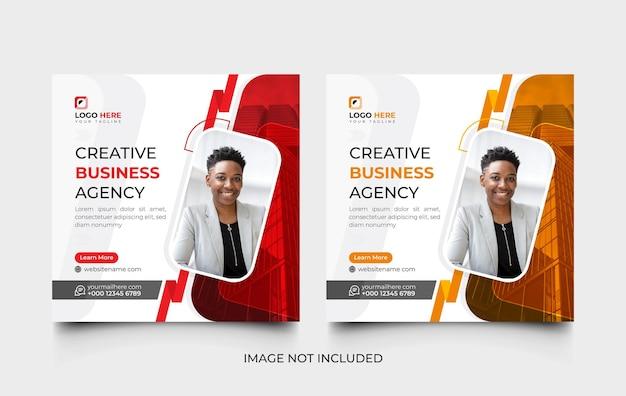 Set di modelli di social media aziendali creativi