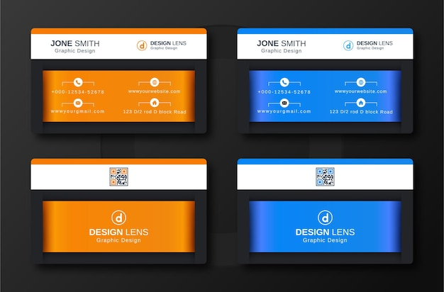Modello di biglietto da visita di lusso aziendale creativo