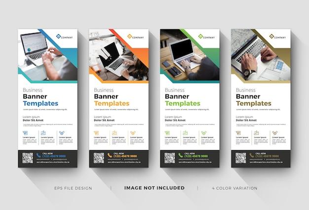 Modelli di banner roll up aziendale creativi