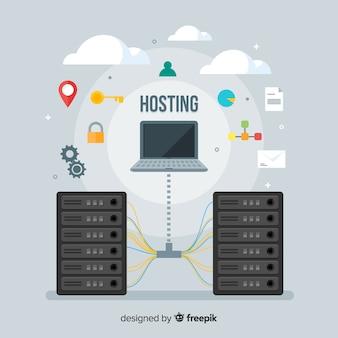 Concetto di hosting di dati creativi
