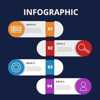 Modello creativo dell'elemento di infographic di concetto di business plan di idea del diagramma