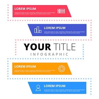 Modello di elemento infografico del concetto di piano aziendale rapporto diagramma creativo
