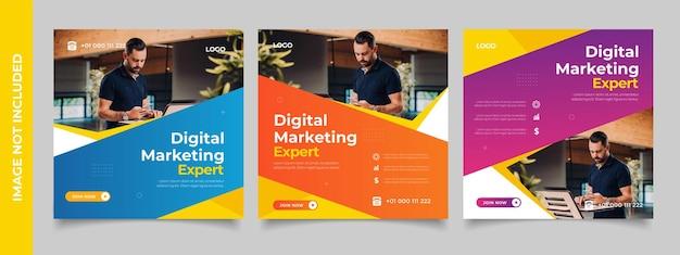 Creativo digital business agency social media post template design promozione banner pubblicità aziendale