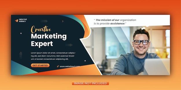 Modello di copertina di facebook per la promozione del marketing digitale creativo