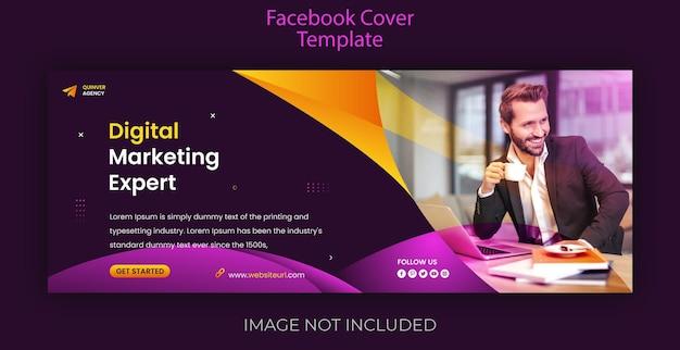 Copertina di facebook e modello di web banne per la promozione del marketing digitale creativo