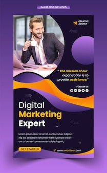 Modello di storie di instagram sui social media per la promozione del marketing digitale creativo