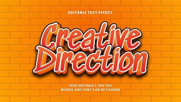 Effetto di testo modificabile direzione creativa in moderno stile 3d