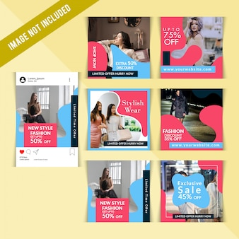 Post instagram di sconto creativo