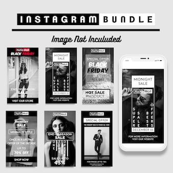 Modello di story story instagram sconto creativo