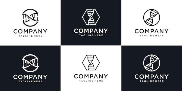 Concetto di design moderno logo creativo dna, modello di progettazione logo astratto gen