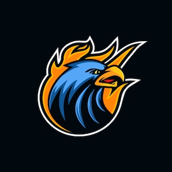Logo mascotte testa di aquila creativa